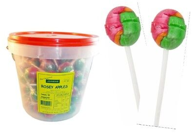 100 x Rosey Apple Individually Wrapped Sweets Party Favours Candy Bulk Lollies