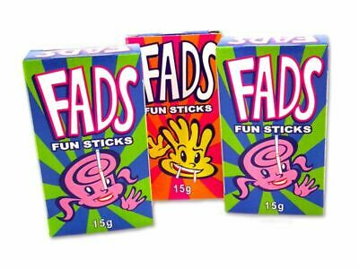 24 Packs x FAD FUN STICKS Bulk Lollies Party Favour Sweets