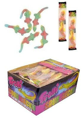 40 x Trolli Sour Gecko Individually Wrapped Lollies Bulk Sweets Party Candy