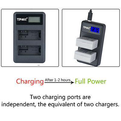 LP-E8 USB Dual Battery Charger For Canon LPE8 EOS 700D 650D 600D 550D