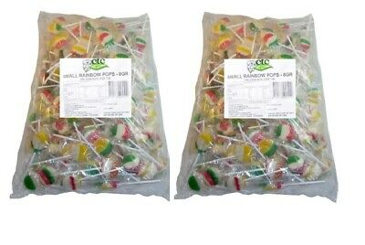 200 x Rainbow Pop Small Wrapped Party Favour Sweets Bulk Wholesale Lollies Candy