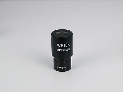 WIDEFIELD  WF10X/18mm Microscope Eyepiece  for 23.2mm Mounting Size 1PCS