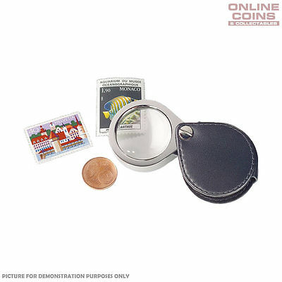 Lighthouse Foldaway Pocket Magnifier 5x Magnification - Leather LU23