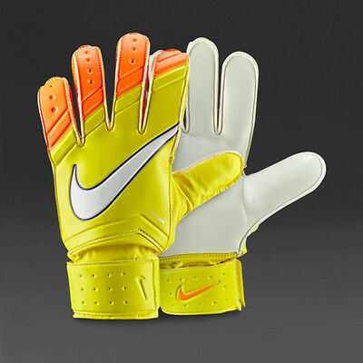 NEW- Nike Match Goalkeeper Gloves- Yellow/Orange- 100% Official Nike Product