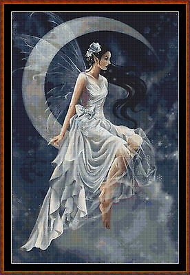 Cross Stitch Chart ( Pattern ) - WANING FAIRY *CD Delivery*