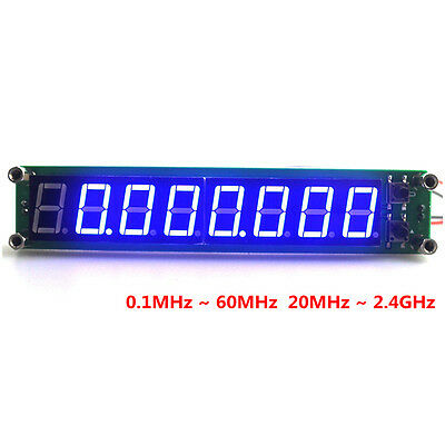"Digital Frequency Counter Meter Blue LED Cymometer 8 Digits 0.56"" 60MHz Detector"