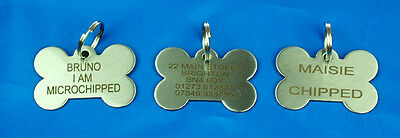 Dog ID NAME Bone Tag S/Steel Pet Tags BLACK LASER ENGRAVED Cats & Puppy B