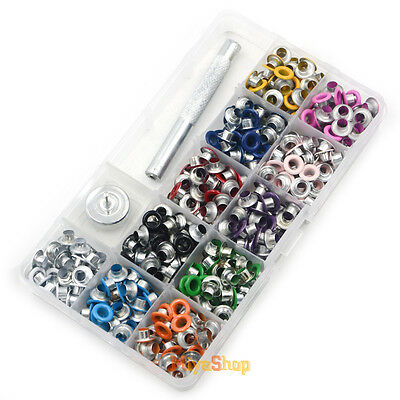 Eyelet Buckle Punch Press Tool NO-SEW Buckle Hole Belt 11 colour With Box Set