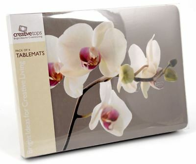 Set of 6 Orchid Harmony Placemats & 6 Coasters