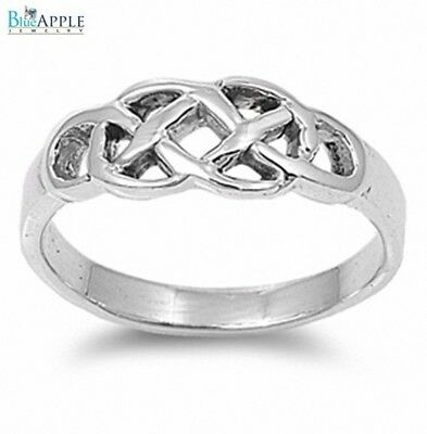 60e9ab70bf462 925 STERLING SILVER Simple Love Knot Women's Ring - $15.99 | PicClick