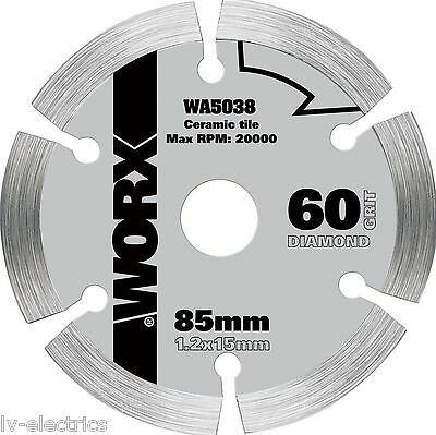 WORX WA5038 WORXSAW 85 mm Diamond Blade Disc Cutting ceramic tiles