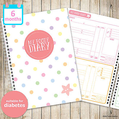 My Foody Diary: Diabetes food diary (6 months), insulin, glucose, log, tracker