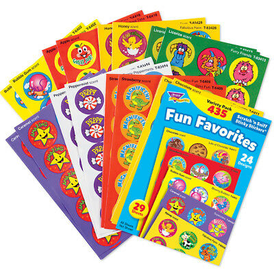 Trend Fun Favourites Smelly Scratch n Sniff Reward Stickers 435 Scented Stickers
