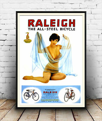 Rayleigh the all steel : old Cycling magazine advert  , poster, Wall art.