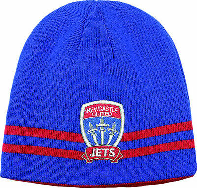 Newcastle United Jets Reversible Beanie- 100% Official A-League Product