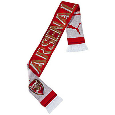 Arsenal FC Puma Scarf- 100% Official Licensed Product