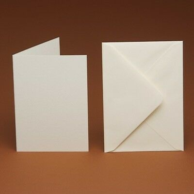 50 A4 folded to A5 Blank Cards & C5 Envelopes(ivory,linen,hammer,white)FREE P&P