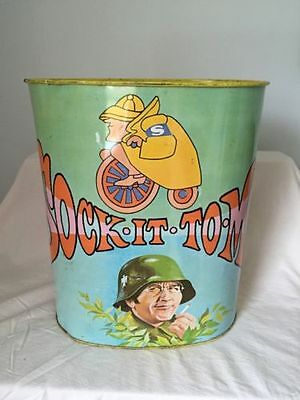 Vintage Rowan & Martin's Laugh-In Sock It To Me Trash Can 1968