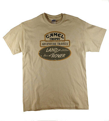 Camel Trophy Land Rover Range Rover Discovery Series 3 Print Natural T-shirt