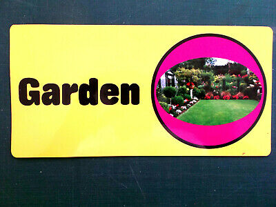 Self-adhesive signage for Dementia Alzheimers Partially Sighted - GARDEN 171-03