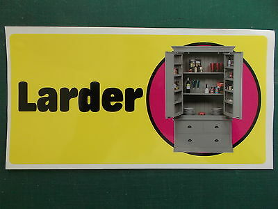 Self-adhesive signage for Dementia Alzheimers Partially Sighted - LARDER 171-05