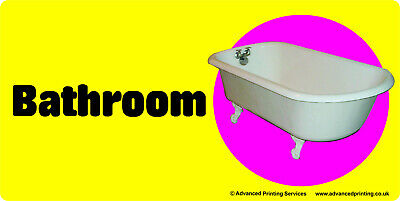 Self-adhesive signage for Dementia Alzheimers Partially Sighted- BATHROOM 171-01