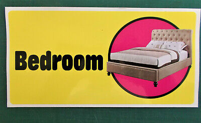 Self-adhesive signage for Dementia Alzheimers Partially Sighted - BEDROOM 171-02