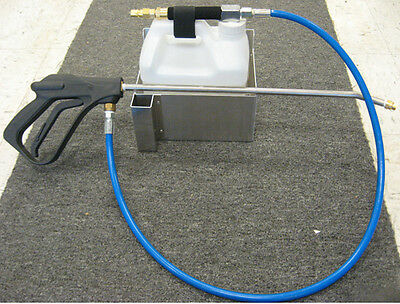 Carpet Cleaning In Line Injection Sprayer w/Stainless Steel Wall Mounted Holder