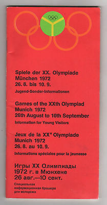 PRG/Guide for Y.Visitors     Olympic Games MÜNCHEN 1972  !!  VERY RARE