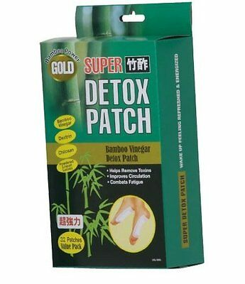 Gold Super Bamboo Vinegar Foot Detox Patches - 32 Pack