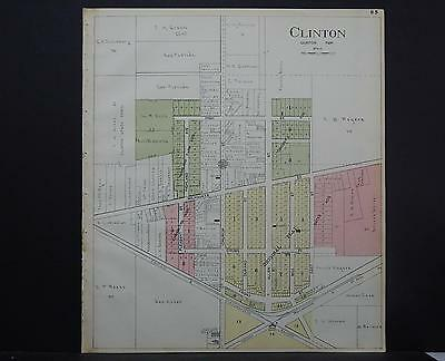 Wisconsin, Rock County Map, 1917 Clinton S1