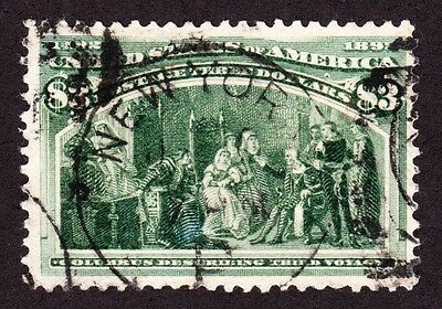 US 243 $3 Columbian Exposition Used VF SCV $825