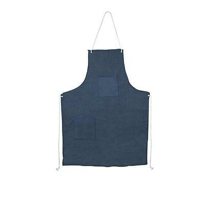 ECONOMY DENIM SHOP BIB APRON W/ POCKETS Metal Machinist Wood Carpenter, QTY 1