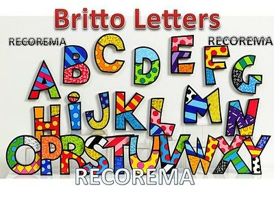 Romero Britto Letter Each  Alphabet  ** New ** Gift Boxed **