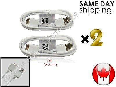 2x 3.0 USB Charging & Data Sync Cable For Samsung Galaxy S5 and Note 3 WHITE