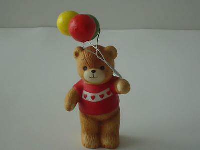 LUCY & ME Bear Holding Balloons ~ Enesco Lucy Rigg 1980