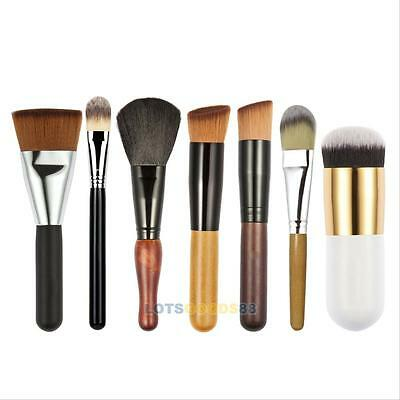 7Pcs Pro Makeup Cosmetic Brushes Set Powder Foundation Eyeshadow Lip Brush Tool