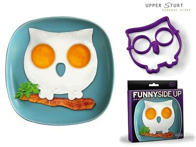 Funny Side Up Owl Egg Art Silicone Mould Genuine FRED