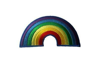 Rainbow Embroidered Iron / Sew On Patch Badge Applique Motif