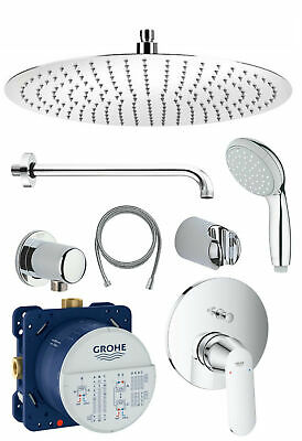 Grohe UP Duscharmaturen Set Eurosmart Cosmopolitan Regendusche Kopfbrause 30 cm