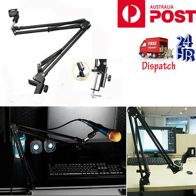 Foldable Microphone Mic Suspension Boom Arm Desktop Table Stand Holder Mount AU