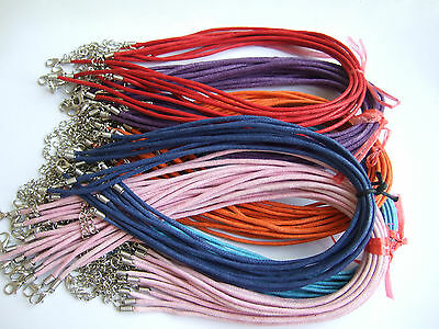 2mm Waxed Cotton Necklace Cords Chains For Pendants Jewellery Necklaces Making