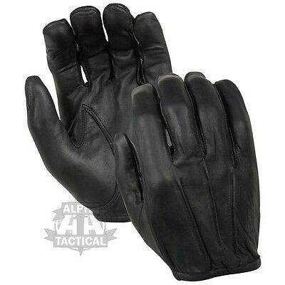 Made With Kevlar Anti Slash Leather Gloves Security Black Flame Fire Resistant
