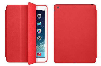 Funda Smart Cover Case + Protector Tablet Apple Ipad 6 Ipad Air 2 - Rojo