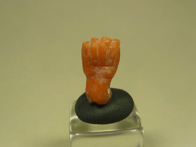 Ancient Coral Power Fist Pendant Roman 100-300 Ad