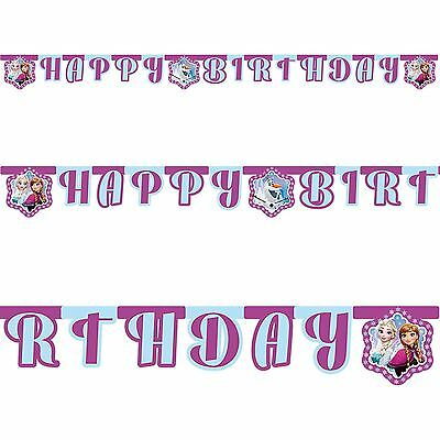 Disney Frozen Northern Lights Letter Banner Bunting Happy Birthday Party