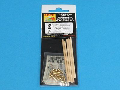 Aber barrel cleaning rods with brackets for Tiger 1 Early/Late 1/16 scale
