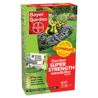 Garden Super Strength Weedkiller 12 Sachets Bayer Garden