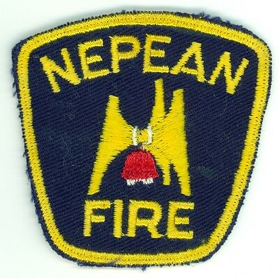 Vintage Nepean Fire Department Uniform Patch Ontario ON Canada