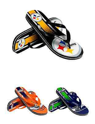 NFL Football Team Logo Gradient Unisex Thong Flip Flops - Pick Your Team!
